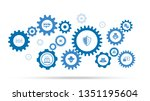 global shield icon. from cyber... | Shutterstock .eps vector #1351195604