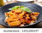 pasta penne napoli  traditional ...   Shutterstock . vector #1351200197