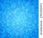 vector swimming pool ripple... | Shutterstock .eps vector #1351202471