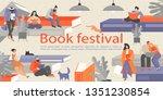 book festival banner with... | Shutterstock .eps vector #1351230854