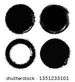 set of grunge circles.grunge... | Shutterstock .eps vector #1351233101