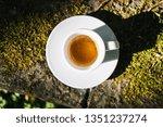 cup of espresso macchiato.... | Shutterstock . vector #1351237274