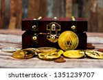 crypto currency was found in...   Shutterstock . vector #1351239707