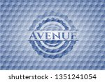avenue blue emblem or badge...   Shutterstock .eps vector #1351241054