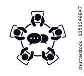 brainstorming and teamwork icon....   Shutterstock .eps vector #1351246847