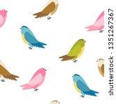 abstract bird seamless pattern... | Shutterstock .eps vector #1351267367