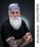 studio portrait of a senior...   Shutterstock . vector #1351270994