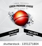 live cricket poster or banner...   Shutterstock .eps vector #1351271804