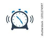 alarm clock icon. alarm clock... | Shutterstock .eps vector #1351274597