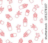 vector seamless pattern with... | Shutterstock .eps vector #1351278107