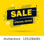 super sale and special offer.... | Shutterstock .eps vector #1351286081