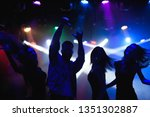 Stock photo party holidays celebration nightlife and people concept group of happy friends dancing in 1351302887