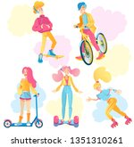 active lifestyle people | Shutterstock .eps vector #1351310261