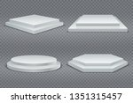 white podiums. round and square ... | Shutterstock . vector #1351315457