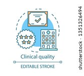 clinical quality concept icon.... | Shutterstock .eps vector #1351326494