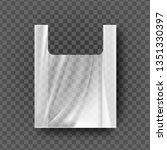plastic bag with handles vector....   Shutterstock .eps vector #1351330397