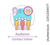 audience concept icon.... | Shutterstock .eps vector #1351334477