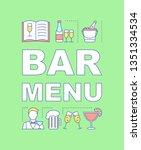 bar menu word concepts banner....