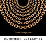 background with chains golden... | Shutterstock .eps vector #1351339481