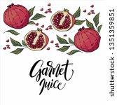 hand drawn garnet | Shutterstock .eps vector #1351359851