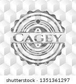 Cagey Retro Style Grey Emblem...