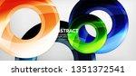 modern geometric circles... | Shutterstock .eps vector #1351372541