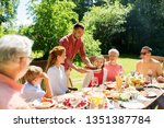 leisure  holidays and people... | Shutterstock . vector #1351387784