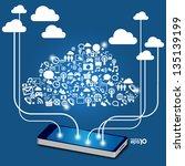 mobile phones technology... | Shutterstock .eps vector #135139199
