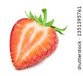 strawberries isolated on white... | Shutterstock . vector #1351395761