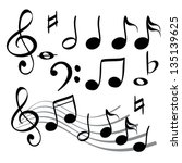 music note icon cartoon vector ...