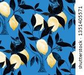 watercolor seamless pattern... | Shutterstock . vector #1351405571