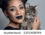 beauty portrait of an...   Shutterstock . vector #1351408394
