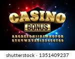 casino style glossy font design ... | Shutterstock .eps vector #1351409237