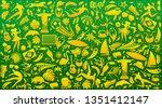 vector illustration colorful... | Shutterstock .eps vector #1351412147