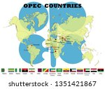 opec member countries flags | Shutterstock .eps vector #1351421867