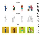 isolated object of character... | Shutterstock .eps vector #1351429727