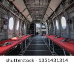 Helicopter interior at USS Midway Museum, San Diego, California