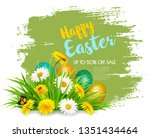 easter sale background with... | Shutterstock .eps vector #1351434464