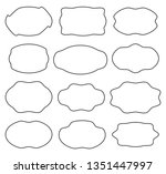 set of different geometric... | Shutterstock .eps vector #1351447997