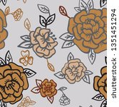 vector background. floral... | Shutterstock .eps vector #1351451294