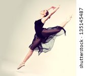 beautiful ballet dancer  modern ...