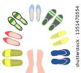set of women's shoes. view top. ...   Shutterstock .eps vector #1351470554