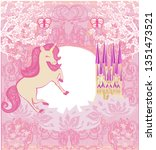 cute unicorn and fairy tale... | Shutterstock . vector #1351473521
