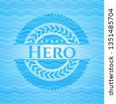 hero light blue water badge...   Shutterstock .eps vector #1351485704