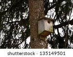 Starling House On A Tree In A...