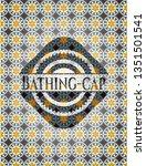 bathing cap arabic emblem.... | Shutterstock .eps vector #1351501541