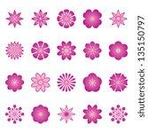 flower vector color | Shutterstock .eps vector #135150797