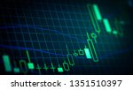 abstract financial trading... | Shutterstock . vector #1351510397
