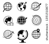 globe and earth geography... | Shutterstock .eps vector #1351510877