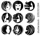 set of illustrations of woman... | Shutterstock .eps vector #1351521284
